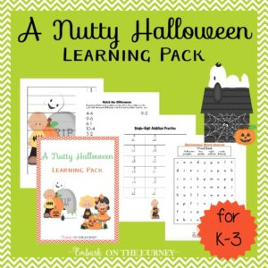 This nutty gang is ready to celebrate Halloween with your little ones. They bring along some super fun activity pages for the K-3 kiddos! | embarkonthejourney.com