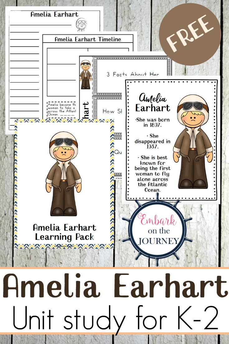 engaging amelia earhart unit study printable for k 2