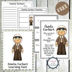 Amelia Earhart Unit Study Printable for K-2