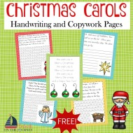 FREE Christmas Carol Copywork and Handwriting Pages