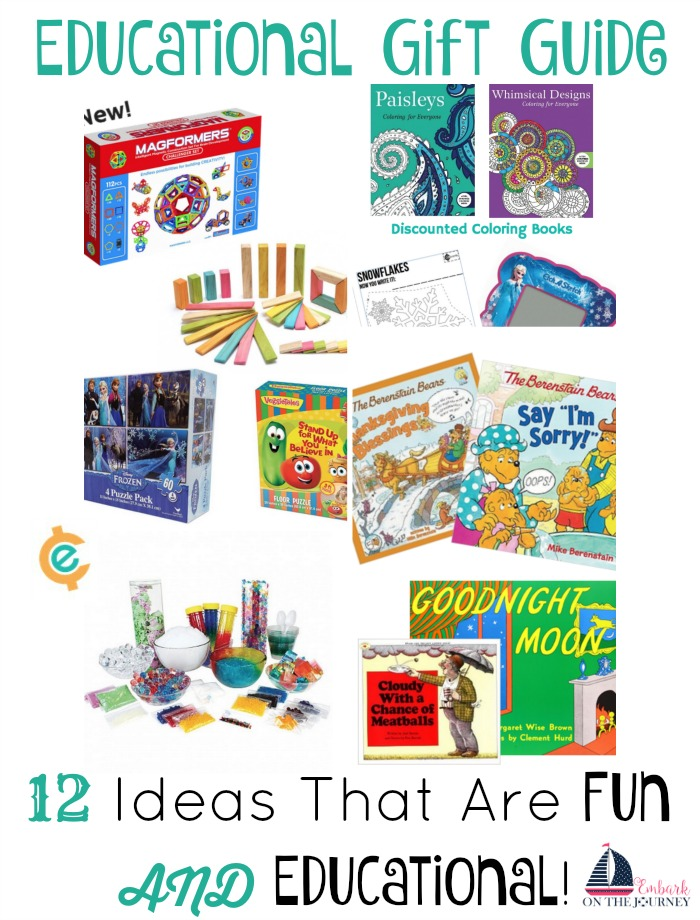 Inspire your kids with Christmas gifts that are both fun and educational! | embarkonthejourney.com