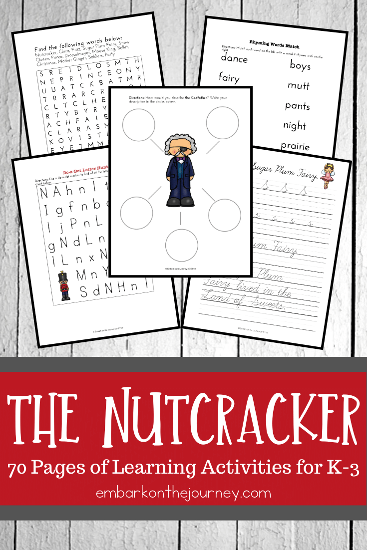 Nutcracker Printables for K-3