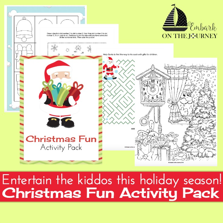 If you're on the hunt for some fun Christmas activities your kids can do, you've got to download this fun Christmas activity pack for kids of all ages! | embarkonthejourney.com