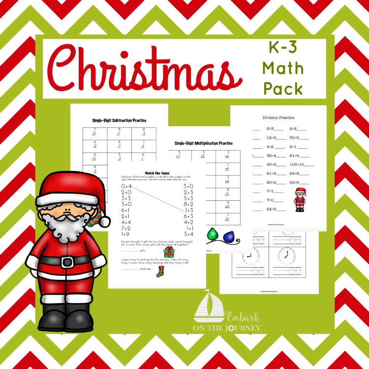 Christmas Math Pack Square