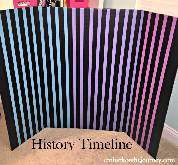 I was determined to create a simple, easy-to-use timeline for our Mystery of History lessons this year! | embarkonthejourney.com