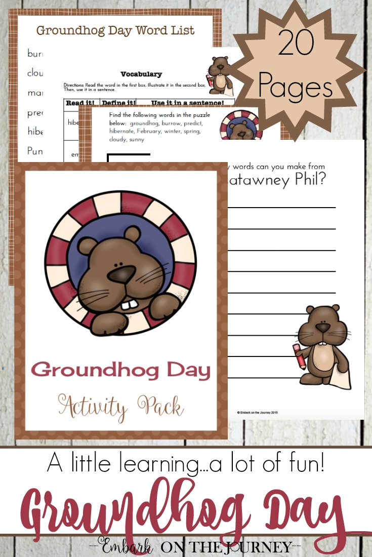 Your kids will enjoy completing these Groundhog Day activities during your winter homeschooling! @homeschljourney