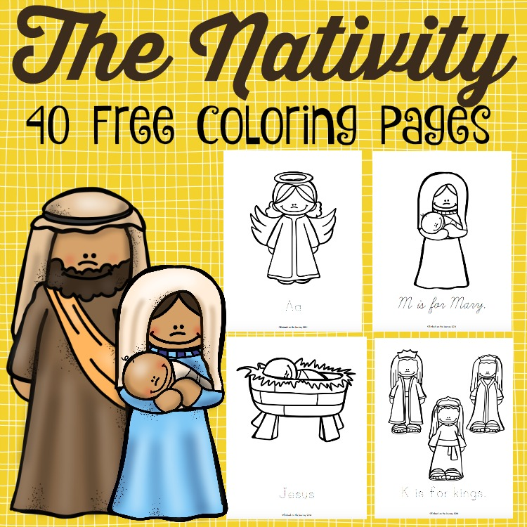 The Nativity Coloring Pages