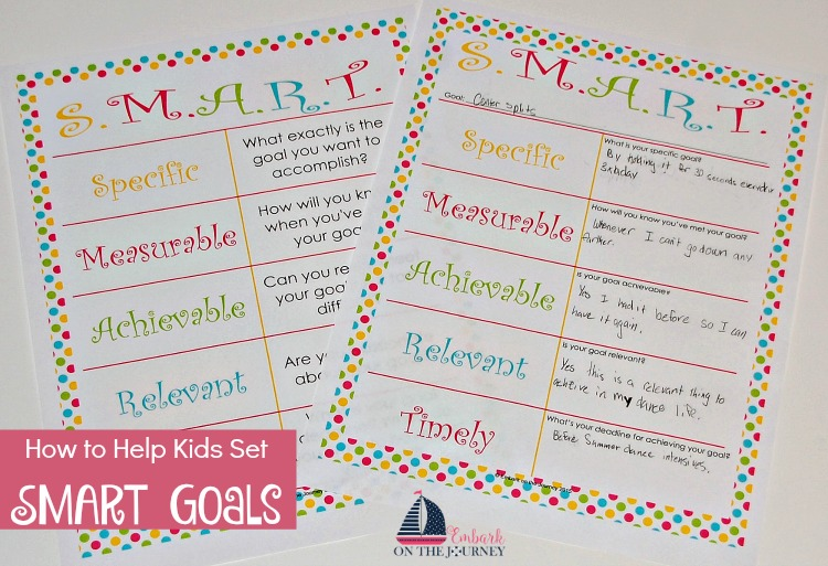 Help your tweens and teens set SMART goals this year, and help them achieve their goals. | embarkonthejourney.com