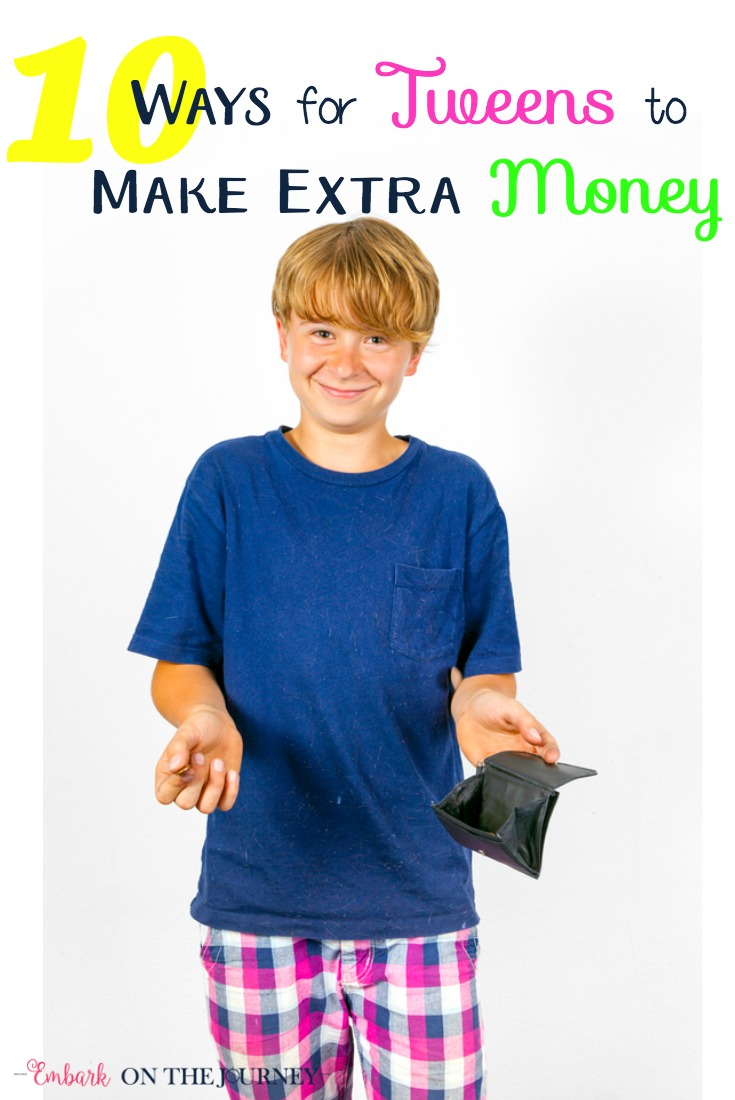 Tweens can learn responsibility and money management by earning their own money. While they can't go out and get a