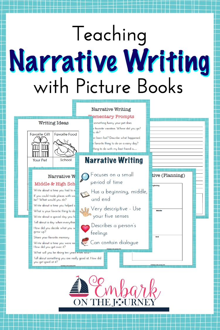 I believe the easiest style of writing to teach is narrative writing. Narrative writing is storytelling from a personal perspective. Kids can choose an event from real life to relate to their audience. | embarkonthejourney.com