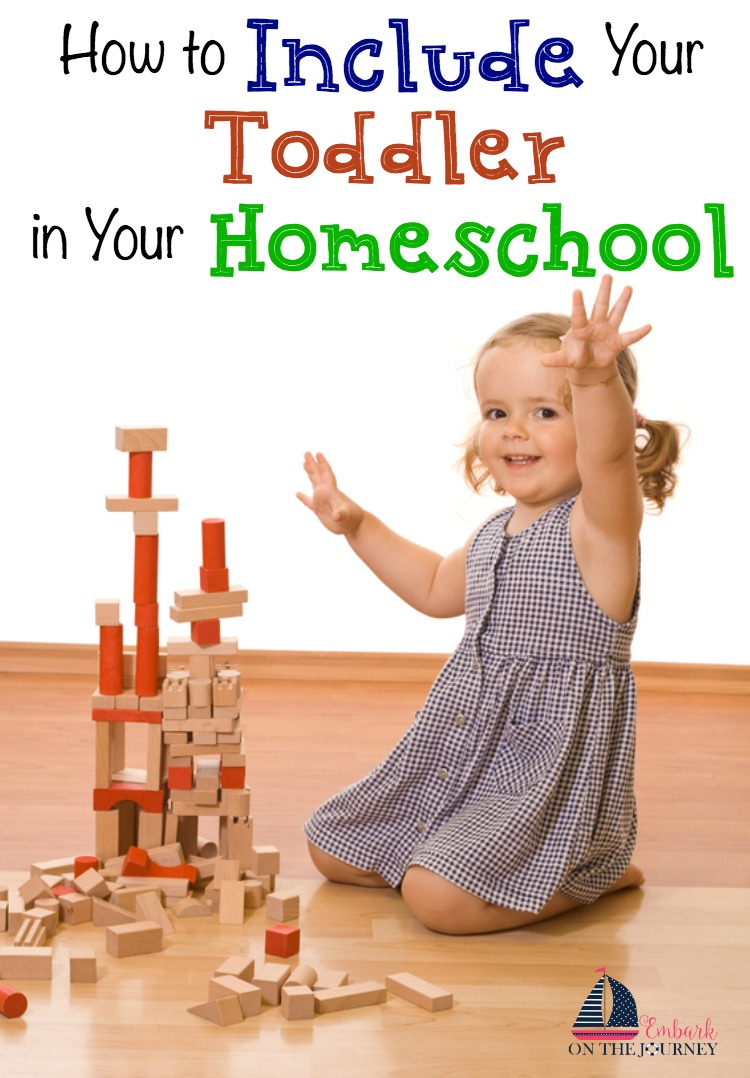 If your toddler is anything like mine were, they want to do what their older siblings are doing. Mine wanted to 'do school' like her big brothers. Here are some tips and resources that will help you include your toddler in your homeschool. | embarkonthejourney.com