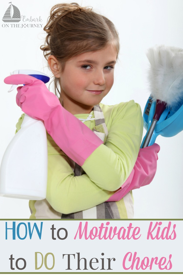 Kids need to do chores around the house. Chores help build self-confidence and responsibility. They help relieve the burden of housekeeping and strengthen family bonds. The trick, however, is motivating kids to do their chores without nagging and begging. Follow these tips on how to motivate kids to do their chores, and see if it makes a difference in your family. | embarkonthejourney.com