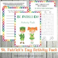 St Patricks Day Printable Activity Pack for Kids