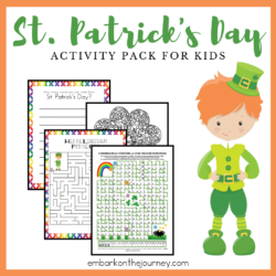 Your kids will feel so lucky when you add these St Patrick Day printable activities to your homeschool lessons! It's full of puzzles and games for kids.