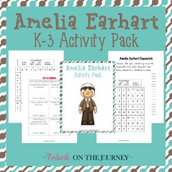 Amelia Earhart Learning Pack
