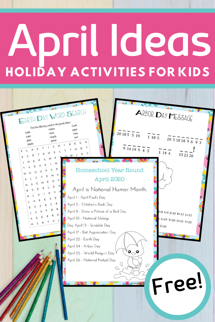 Year round homeschooling doesn't have to be overwhelming! Add some fun activities to your April lessons with these printables, books, and activities.