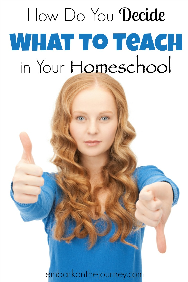 Every year, homeschool moms have to decide what subjects they're going to teach and which curricula they will use. How, though, do you make those monumental decisions? Here are some tips to help you make these decisions without becoming overwhelmed. | embarkonthejourney.com