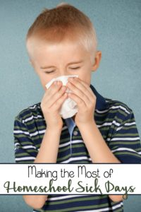 Sick days. They're inevitable. But, they don't have to be a total bust. Here are three ways we make the most of a homeschool sick day.   embarkonthejourney.com