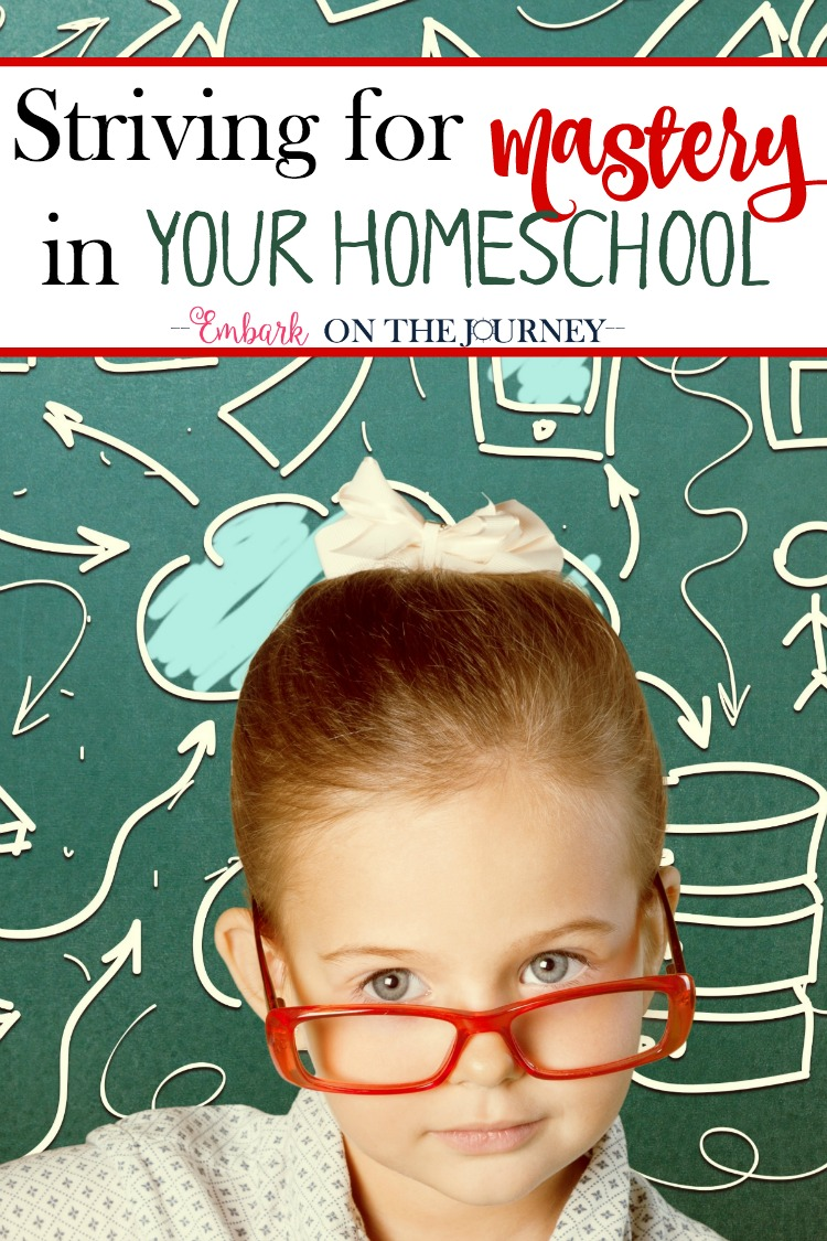 One of the blessings of homeschooling is the ability to help my child master concepts before we move on to the next one. This ensures that there I'm not leaving them behind. While mastery sounds great, what does it look like in real life? Comes see. | embarkonthejourney.com