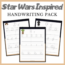 Celebrate Star Wars Day with this amazing Star Wars handwriting bundle! This pack includes print, d'nealian, and cursive fonts!