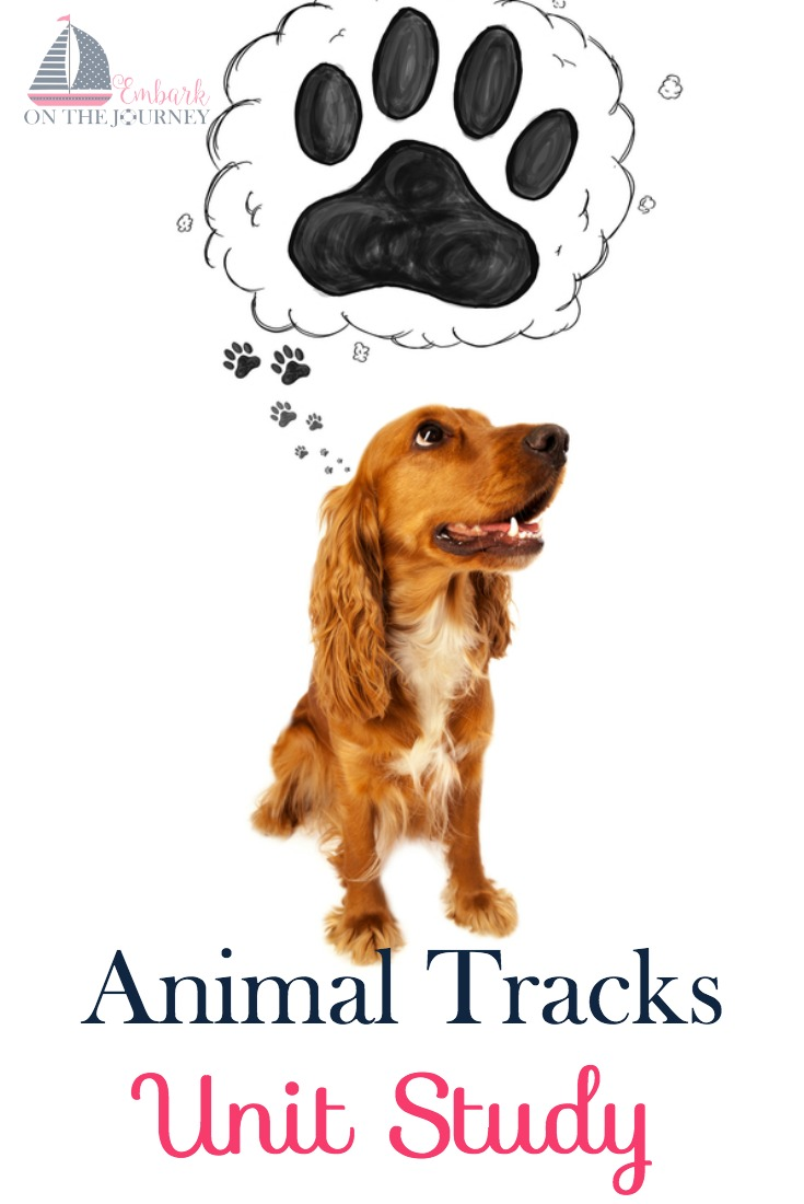 Get your kids outside and explore nature with this fun Animal Tracks Unit Study! This study contains a fun video, book list, hands-on activities, and a 17-page printable!   embarkonthejourney.com