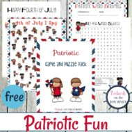 Patriotic Games and Puzzles Pack for Kids