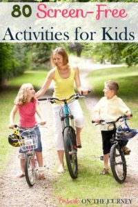 Are you trying to find activities for your kids so they don't waste their summer away watching TV? Once the TV is on, it can be hard to get your kids to unplug from their favorite shows. A day can quickly go by with nothing being accomplished. I've compiled a list of more than 80 screen-free summer activities for kids of all ages. | embarkonthejourney.com