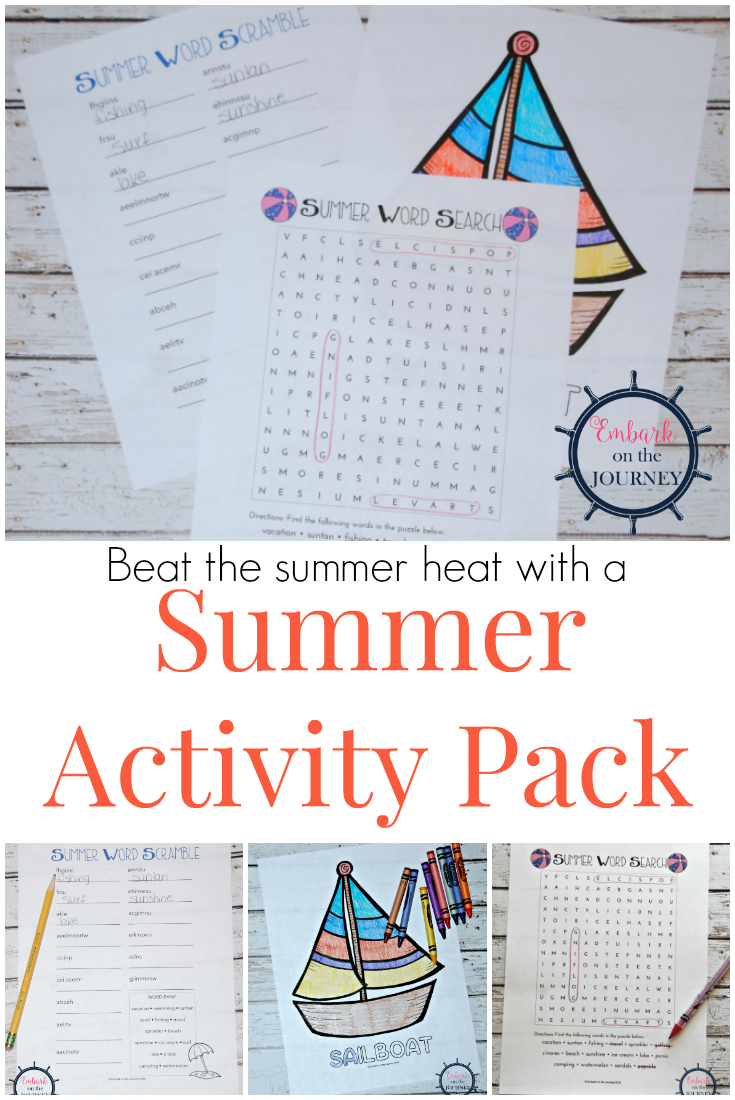 Summer's just around the corner. My summer activity pack is perfect for hot summer days and long summer road trips.