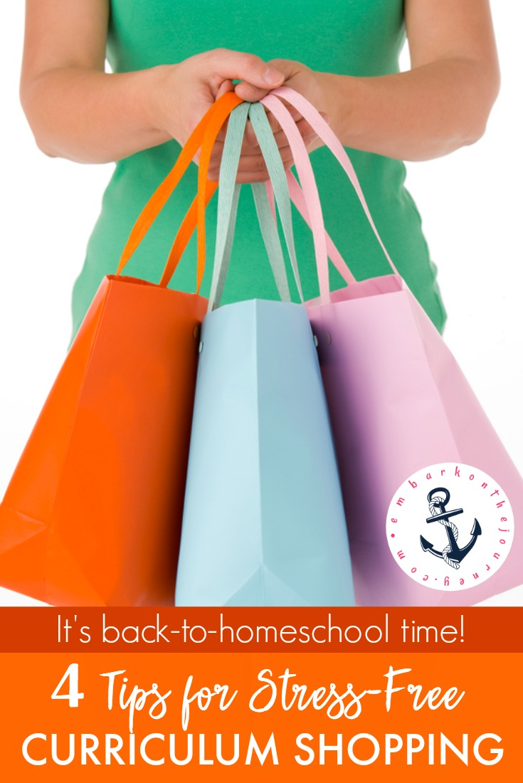 Don't let curriculum shopping overwhelm you! Follow these simple steps to stay within your homeschool budget. You'll have everything you need when it's time to kick off another amazing homeschool year! | embarkonthejourney.com