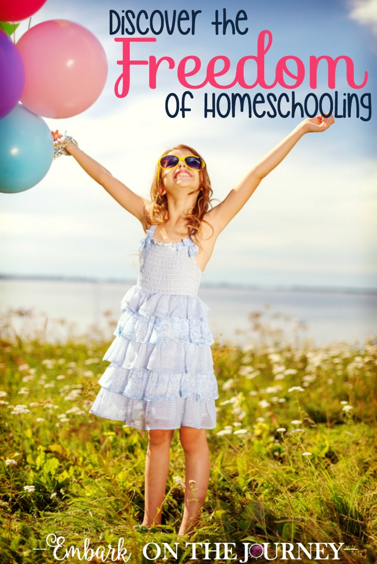 Don't be fooled into thinking you have to mimic a public school classroom in your homeschool. Discover the freedom of homeschooling that gives you the ability to uniquely design an academic journey best suited for your family and your kids. | embarkonthejourney.com