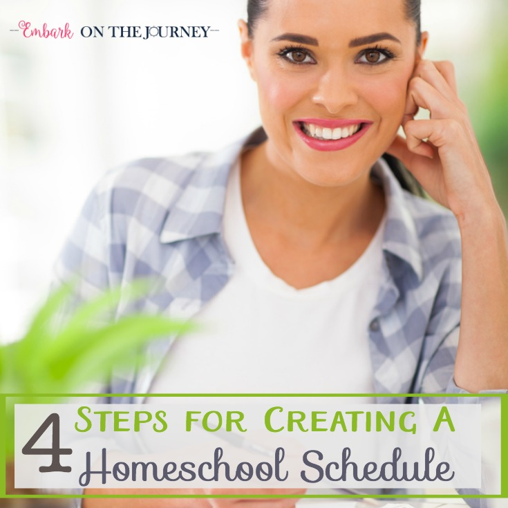 4 Steps for Creating Your Homeschool Schedule