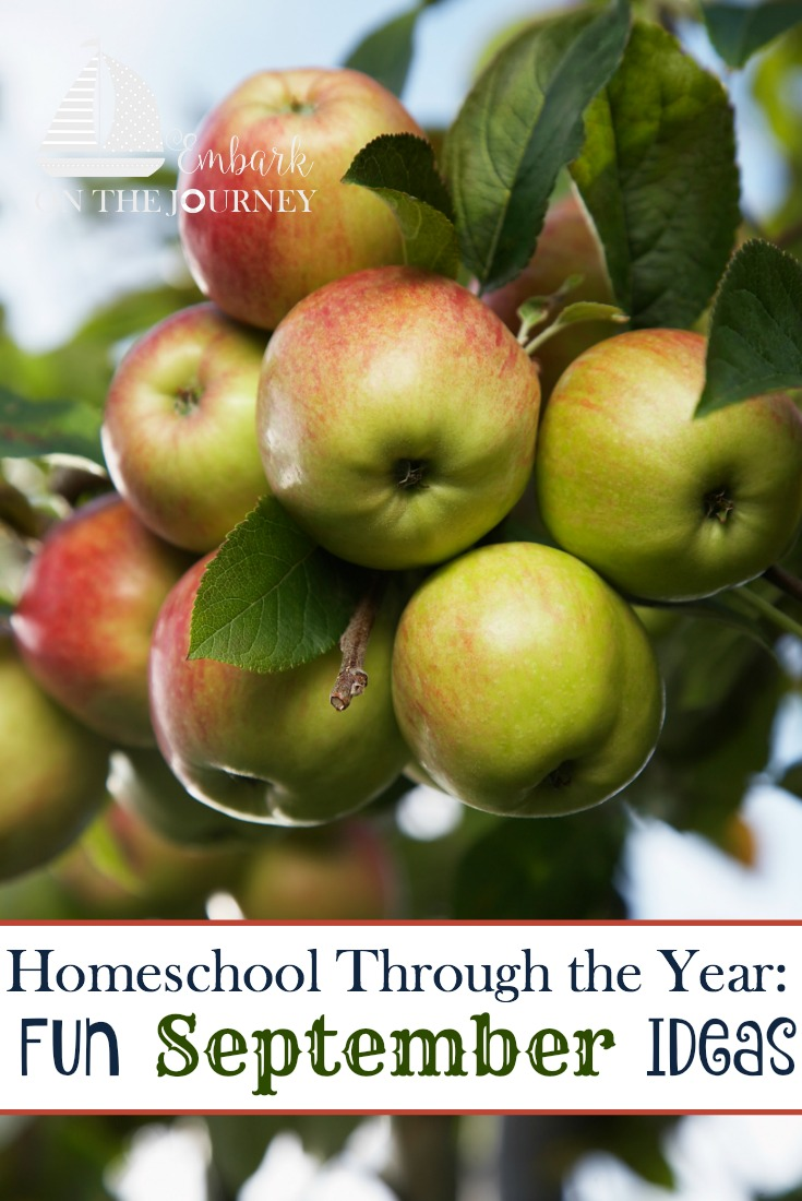 Add some fun studies to your September homeschool lessons with these units, printables, books, and more. | embarkonthejourney.com