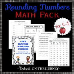 This fun printable is perfect for teaching or reinforcing the concept of rounding numbers to the nearest 10, 100, or 1000.   embarkonthejourney.com