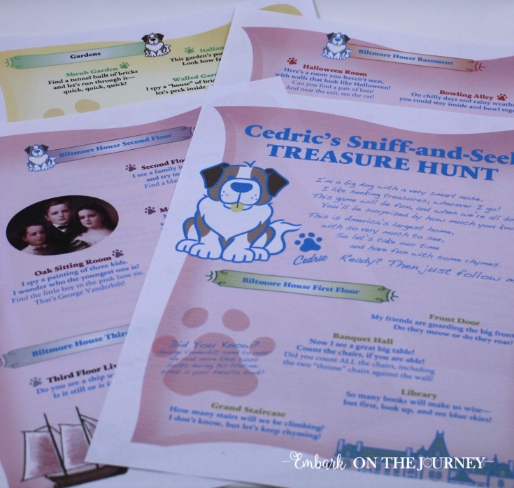 During your tour of Biltmore, keep younger kids engaged with this 4-page printable scavenger hunt! | embarkonthejourney.com