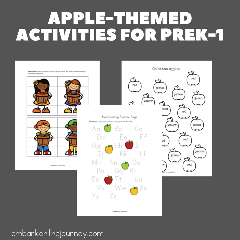 Download this free apple printable pack to use with your younger students in preschool, kindergarten, and first grade. They'll love it!