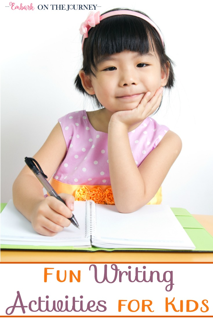 If you have reluctant writers, check out this list of fun writing activities. If you have a child who loves to write, they'll love this list, as well. It'll give them a whole new set of ideas to choose from for their next writing project. | embarkonthejourney.com