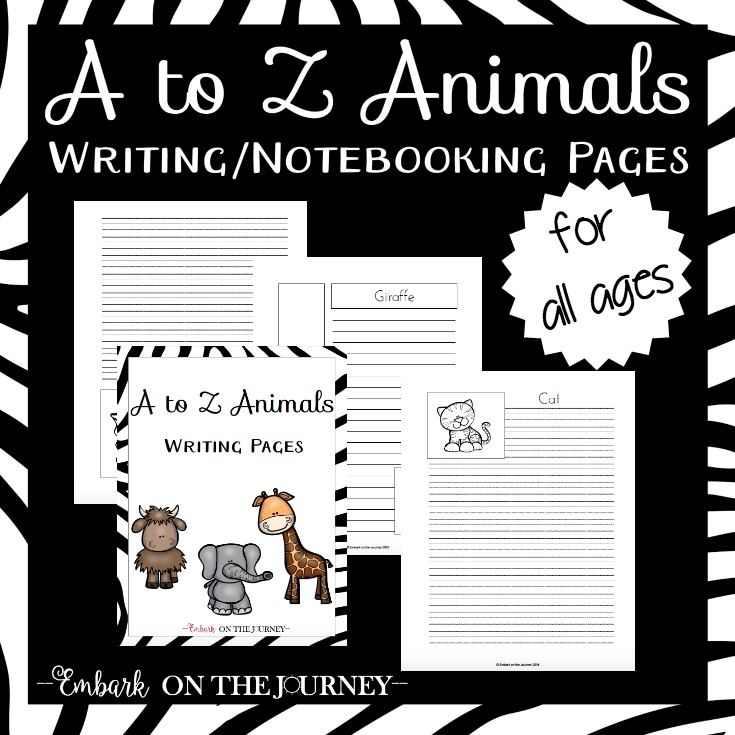 Animal Notebooking and Writing Pages