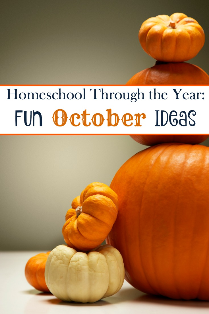 Add some fun studies to your October homeschool lessons with these units, printables, books, and more. | embarkonthejourney.com