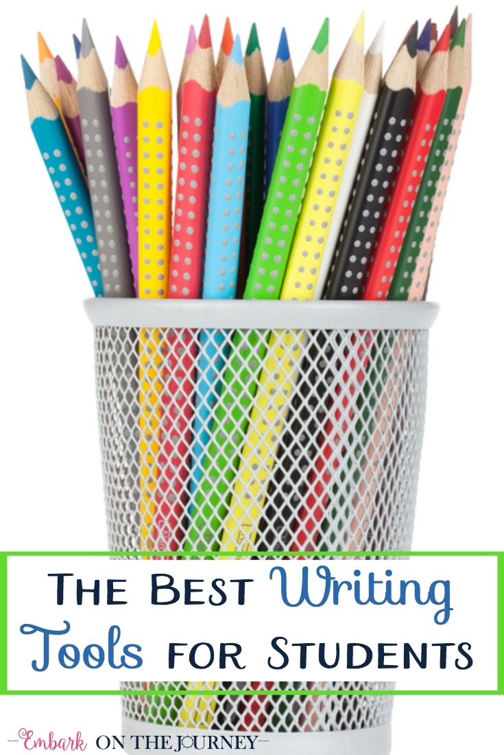 Your budding writer needs these writing tools on his or her desk! | embarkonthejourney.com