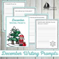 Printable December Writing Prompts