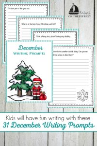 Keep kids writing all month long with December writing prompts - one for every day of the month! | embarkonthejourney.com