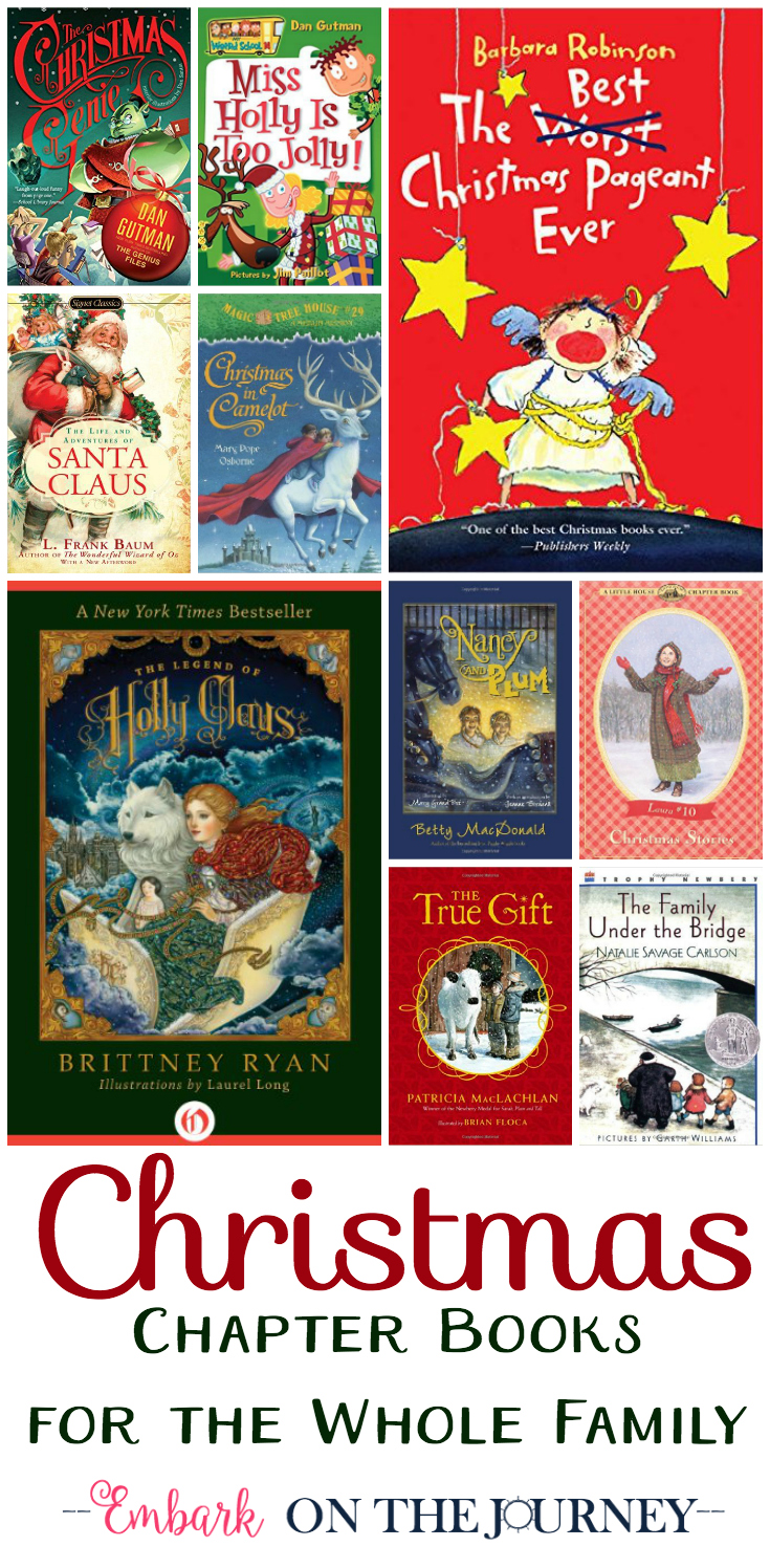 Whether you fill your child's book basket or you choose your next read-aloud, here's a list of 30 chapter books that can be read independently or as a family. Enjoy! | embarkonthejourney.com