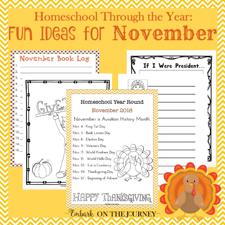 Homeschool Through the Year: November
