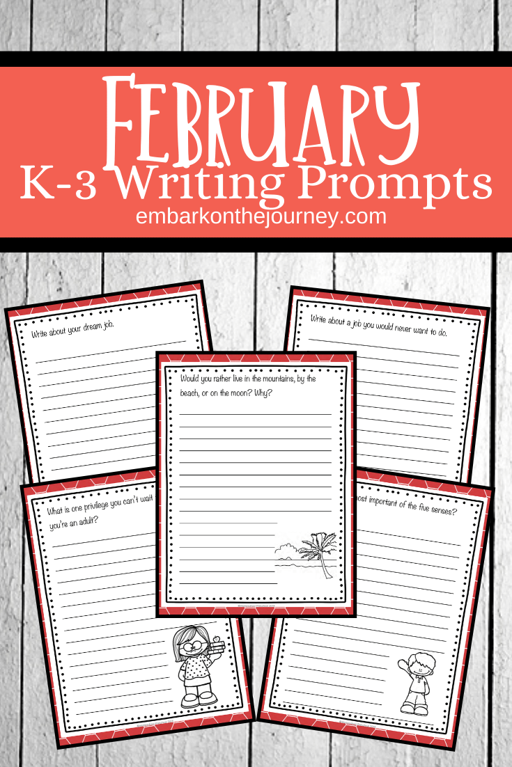 Download and print this awesome set of February writing prompts for elementary students! There are 28 prompts to get you through the month.