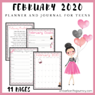 February Teen Planner and Journal