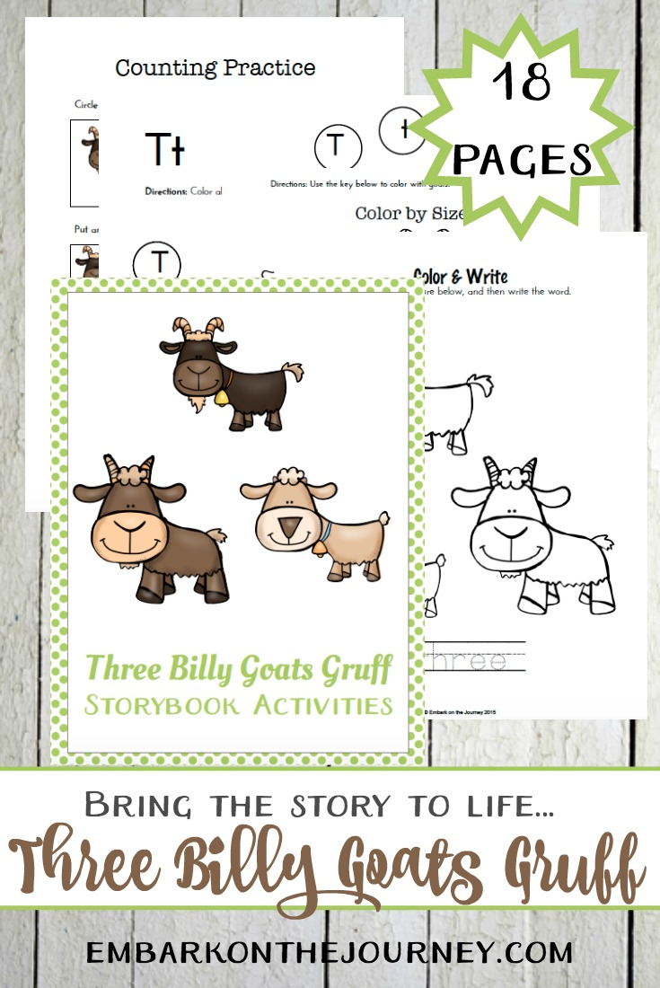 A collection of hands-on activities and a K-2 printable to use with The Three Billy Goats Gruff. | @homeschljourney