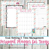 Setting Goals with a Personal Planner for Teens: March Edition