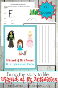 Bring the story to life with Wizard of Oz activities and printables for grades K-2. Hands-on activities, teaching resources, and more. | @homeschljourney