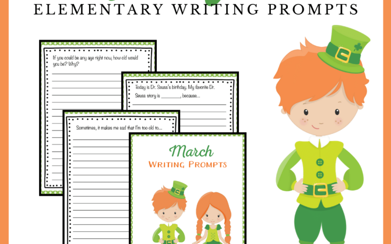 Don't want to download and print this awesome set of March writing prompts for elementary students! There are 31 prompts to get you through the month.