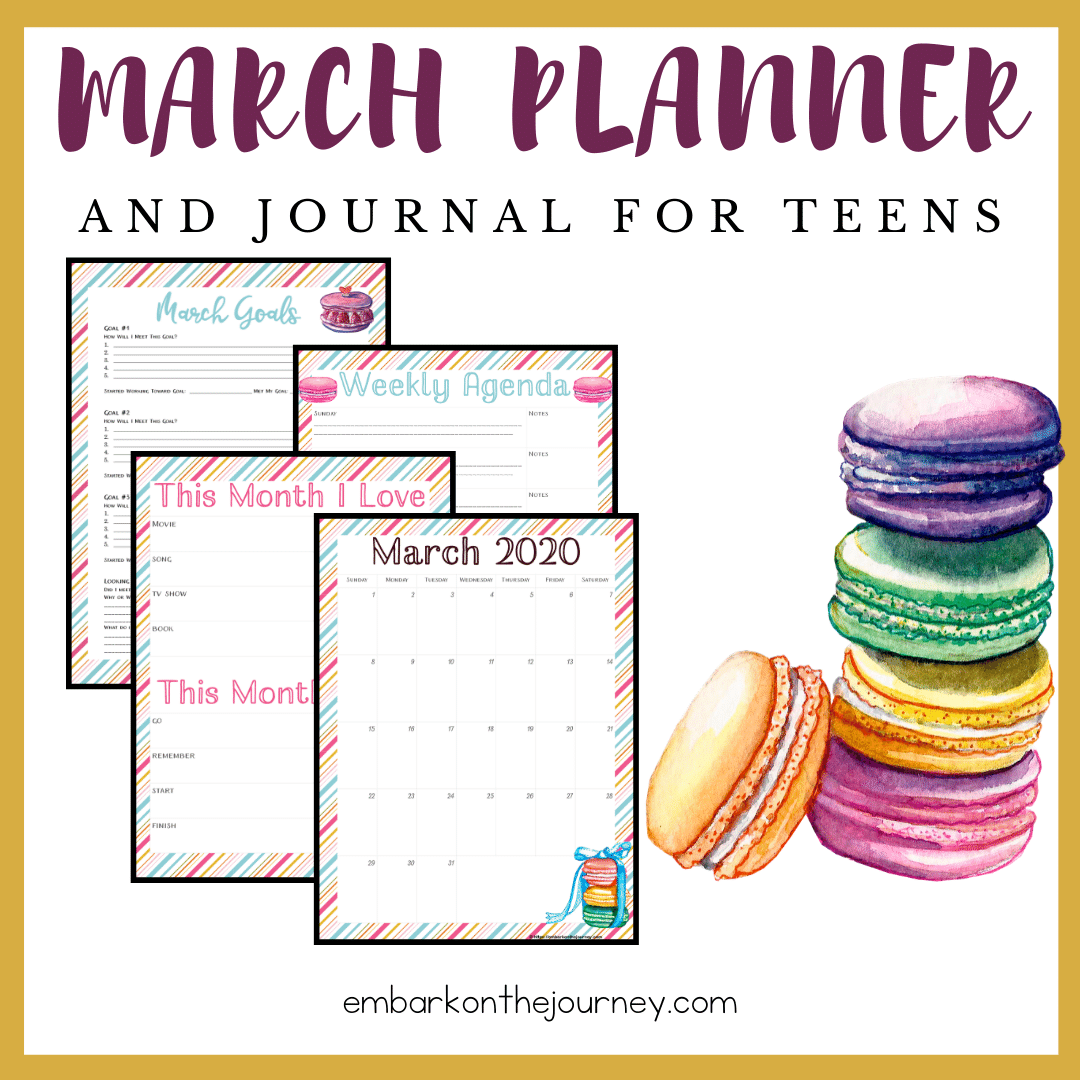 Printable Planner for Teens: March Edition